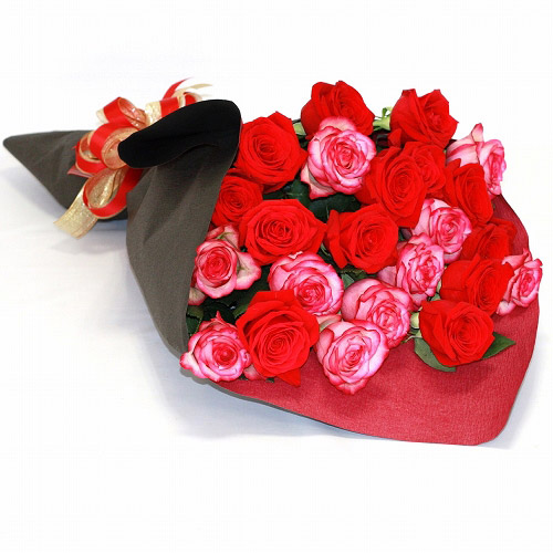 【直送商品B】極上 大輪バラ花束 30本 赤系