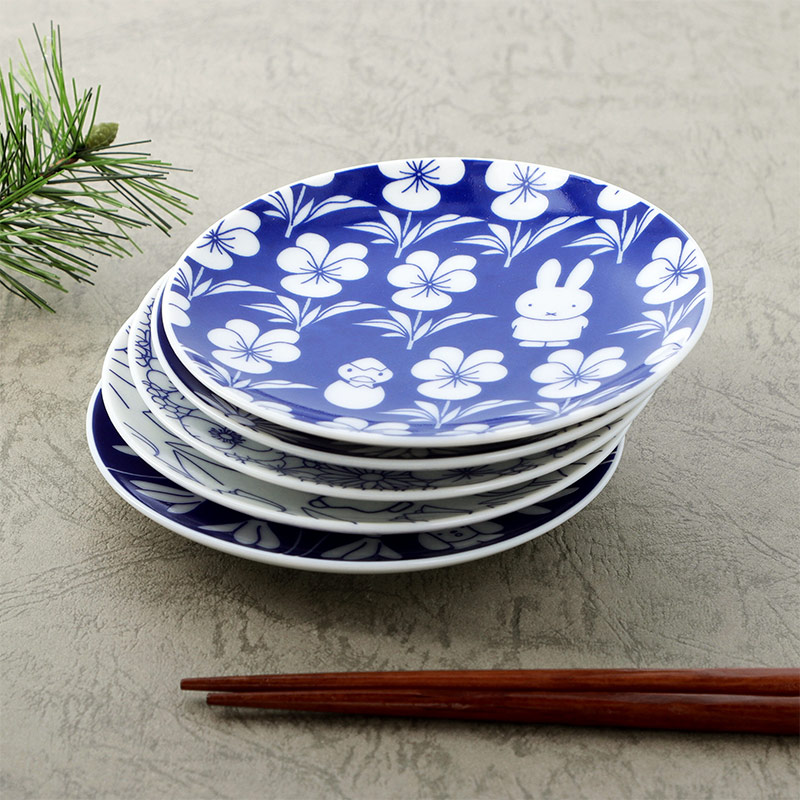 フラワーミッフィー 四季豆皿セット