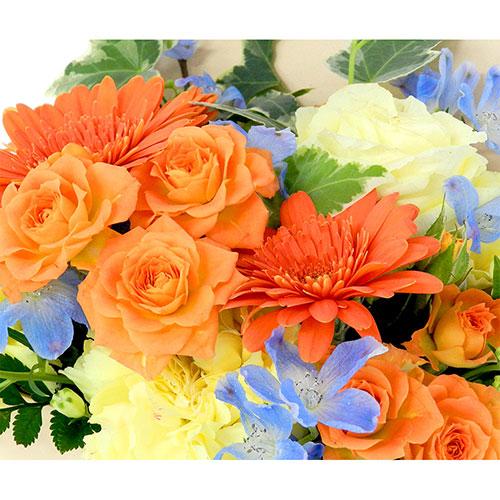 【直送商品B】フラワーブックアレンジ オレンジ