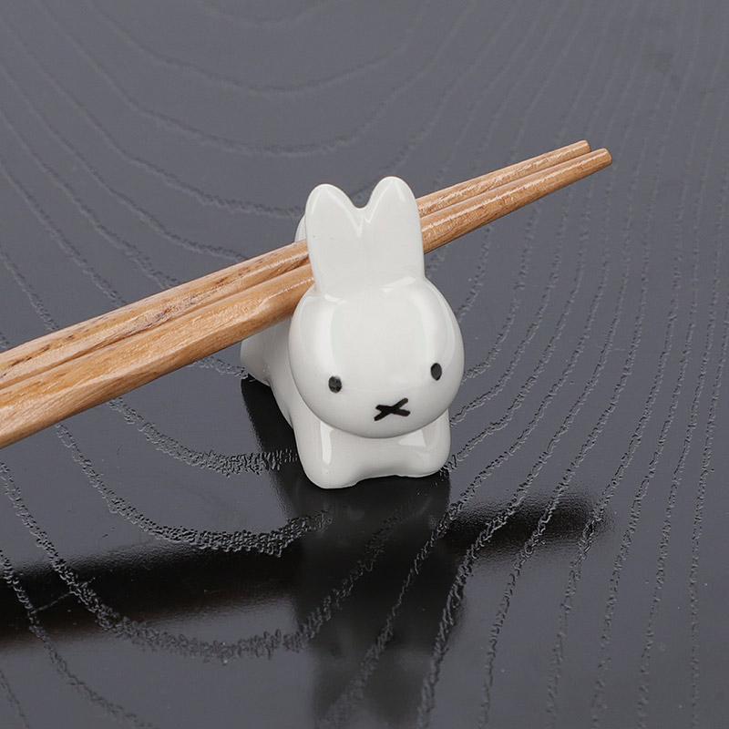 ブルーナうさぎ 箸置き ホワイト