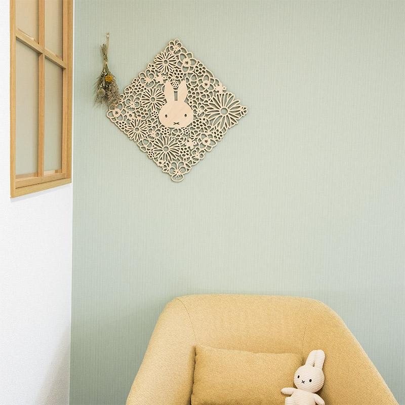 FLower Miffy 木製壁掛け「おかお」
