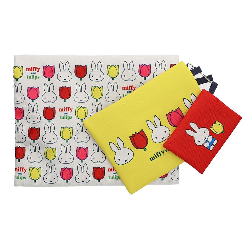 3連ポーチ miffy and tulips
