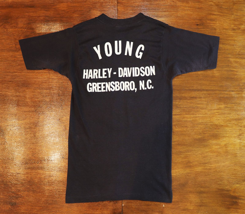 1980s HARLEY SKULL WING T , Size XS