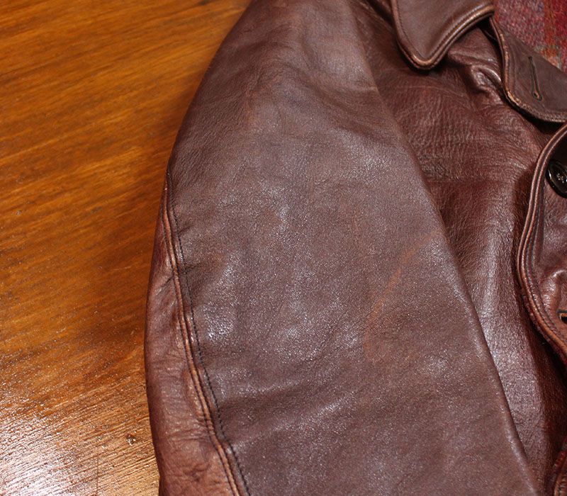 1930s LEATHER CAR COAT , ROUGH WEAR , Size 36