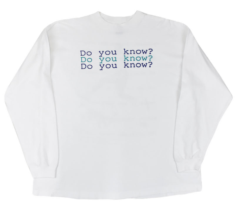 90's NIKE ジョーダンxスパイク・リー ''DO YOU KNOW ?'' 両面プリント ロングスリーブTシャツ 表記(XL) USA製
