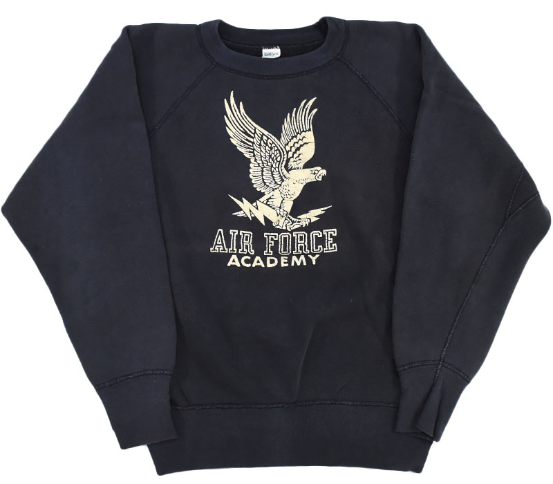 60's SPRUCE ''AIR FORCE ACADEMY'' 3段プリントスウェット 表記(L)