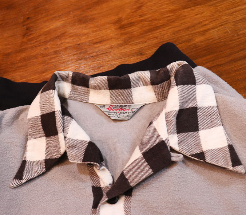 1950s FLANNEL SHIRT , PULLOVER , Size L