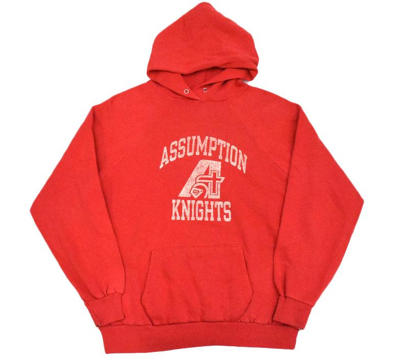 80's トリコタグ チャンピオン ''ASSUMPTION KNIGHTS'' スウェットパーカ 表記(XL) USA製