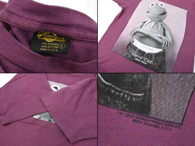 90's Changes ''Kermit Clein'' カーミット Tシャツ 表記(L) USA製