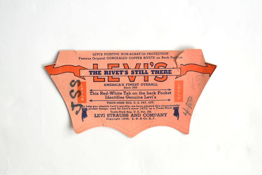 50's Levi's 501ZXX レザーパッチ 実寸(38x34) DEAD