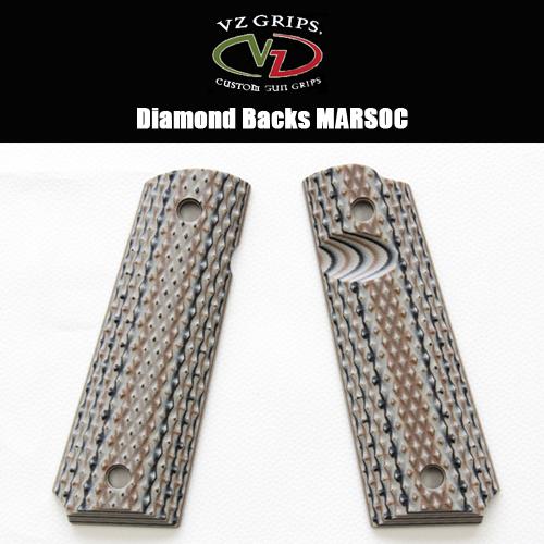 【VZ Grip】1911フルサイズ用 DB-MARSOC-BEV-TN-A Diamond Backs MARSOC