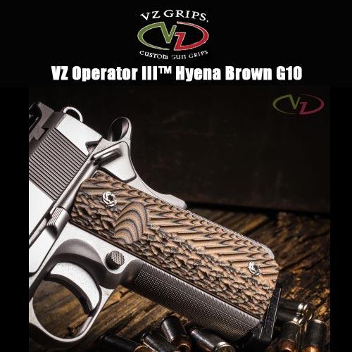 【VZ Grip】1911フルサイズ用 VZ Operator III Hyena Brown【O3-HB】