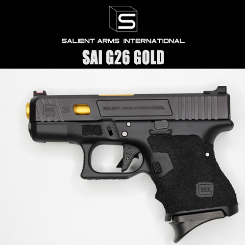 SALIENTARMS Glock26 ゴールドバレル【東京マルイG26GBBベース】SAI