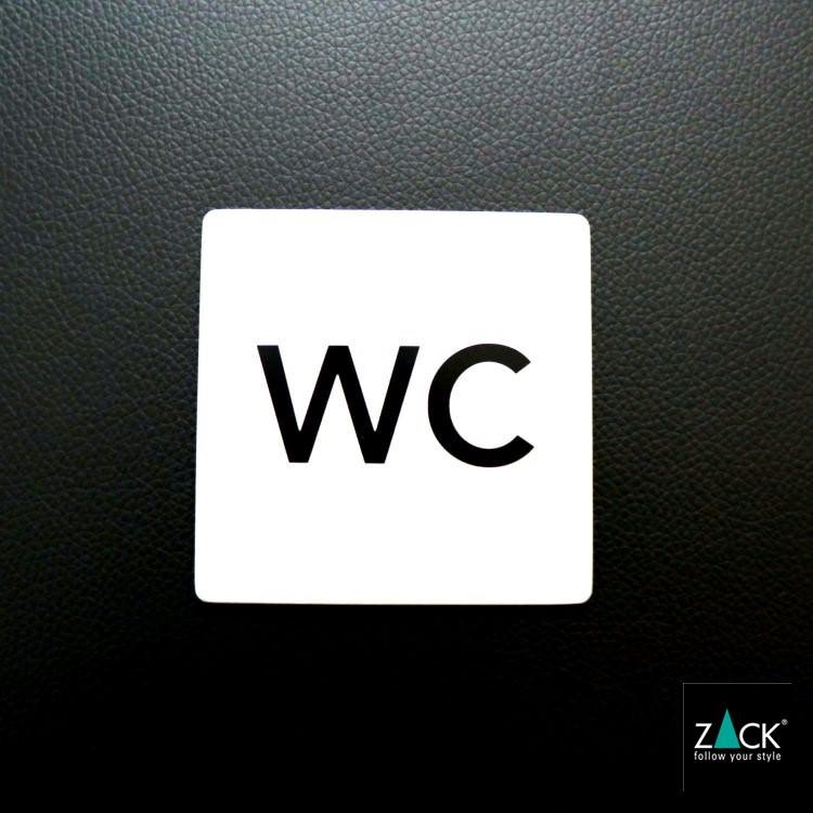 ZACK 50715 INDICI ドイツZACK社製モダンデザインのピクトグラム (トイレ表示板WC)[在庫有り]