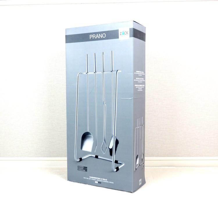 [廃番] ZACK 50032 PRANO ドイツZACK社製モダンデザインのファイヤーツール5点セット