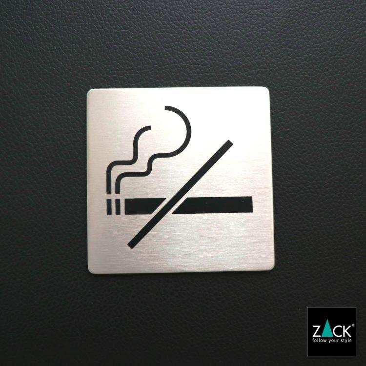 ZACK 50719 INDICI ドイツZACK社製モダンデザインのピクトグラム(禁煙エリア用) [在庫有り]