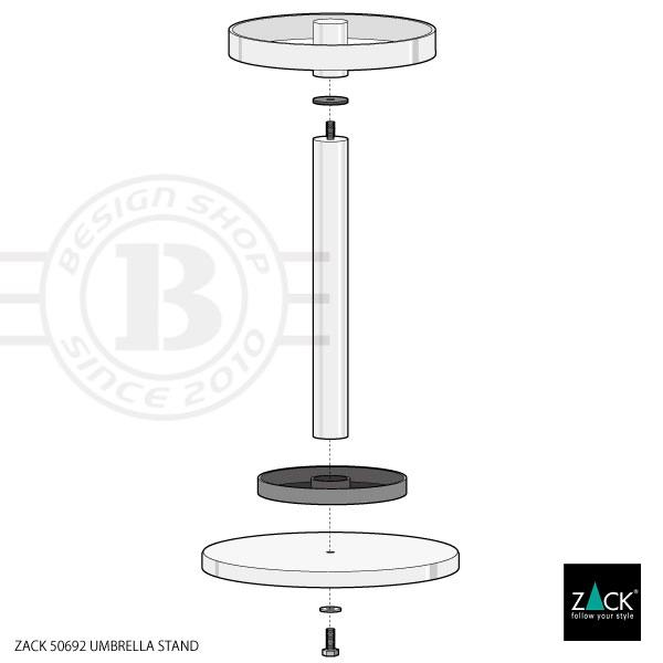 ZACK 50692 ABILIO ドイツZACK社製モダンデザインのアンブレラスタンド(傘立て) [在庫有り]