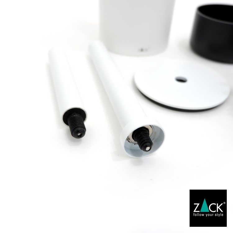 ZACK 40118 TUBO ドイツZACK社製モダンデザインのトイレブラシ ホワイト仕上げ [在庫有り]