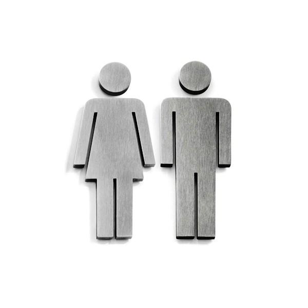 ZACK 50724S INDICI ドイツZACK社製モダンデザインのトイレ用ドアシンボル(男女セット)[在庫有り]