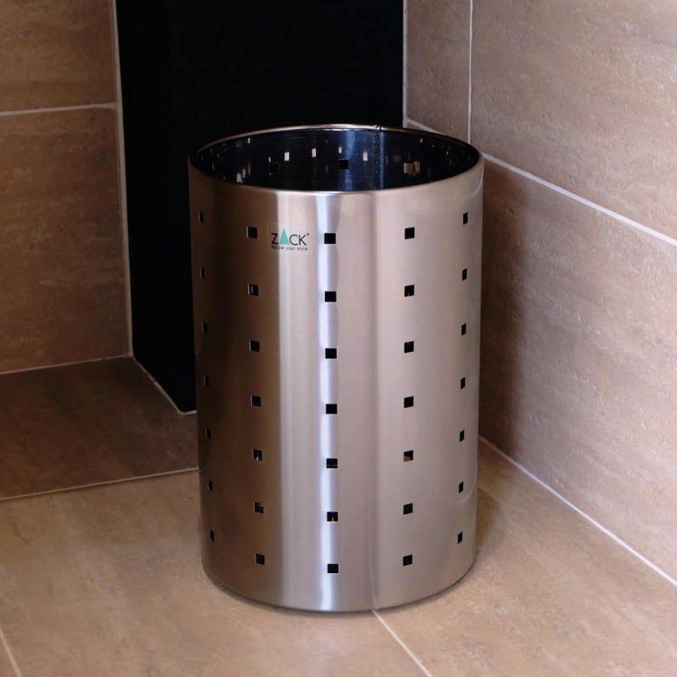 ZACK 50512 QUADRO ドイツZACK社製モダンデザインのペーパーバスケット(ゴミ箱) [在庫有り]