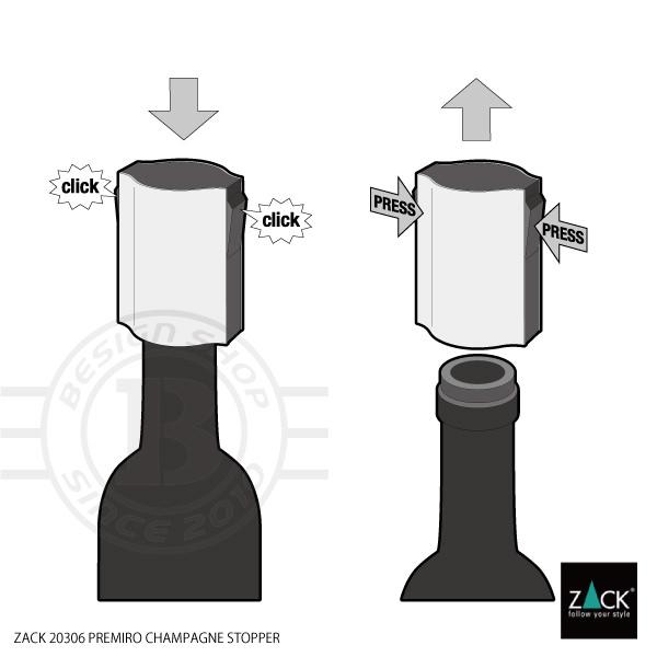 ZACK 20306 PREMIRO ドイツZACK社製モダンデザインのシャンパンストッパー [在庫有り]