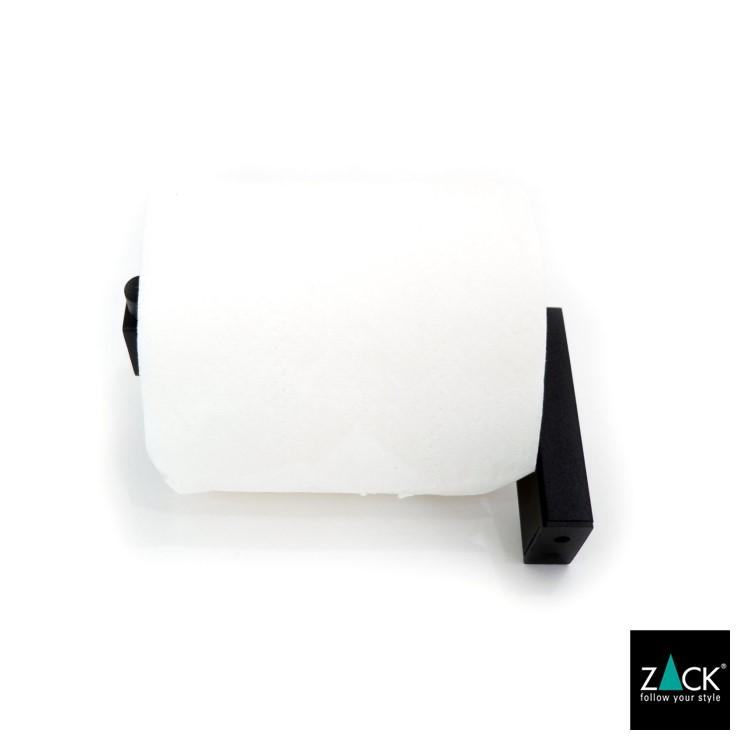 ZACK 40590 LINEA ドイツZACK社製モダンデザインのトイレットロールホルダー マットブラック 壁付けタイプ DIY [在庫有り]