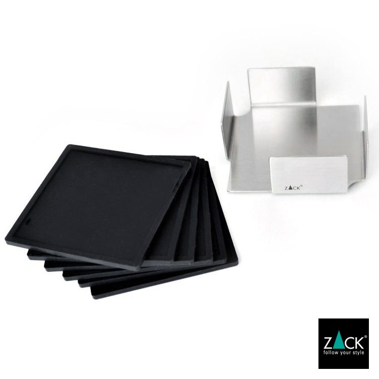 ZACK 20357 OLAI ドイツZACK社製モダンデザインのコースターとホルダー(6枚セット) [在庫有り]