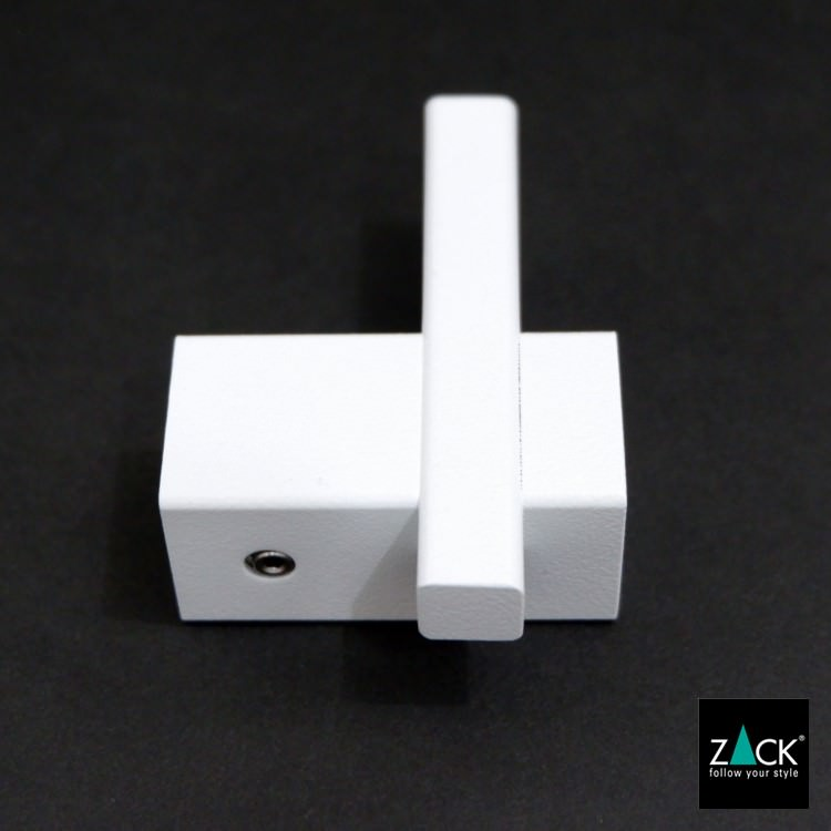 ZACK 40813 CARVO ドイツZACK社製モダンデザインのタオルフック ホワイト仕上げ 壁付けタイプ DIY [在庫有り]