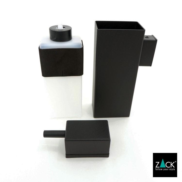 ZACK 40405 LINEA ドイツZACK社製モダンデザインのリキッドディスペンサー マットブラック 壁付けタイプ DIY [在庫有り]