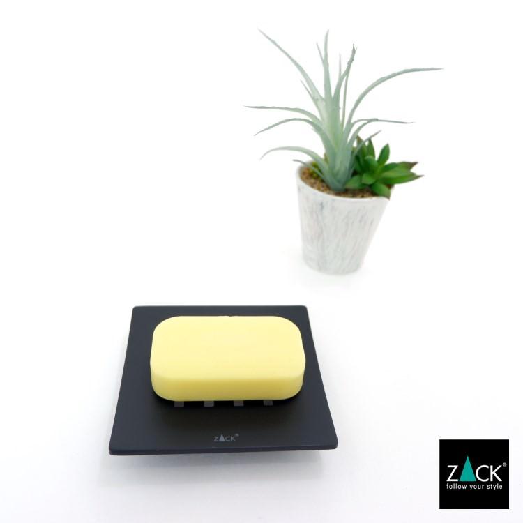 ZACK 40443 ABBACO ドイツZACK社製モダンデザインのソープディッシュ マットブラック [在庫有り]