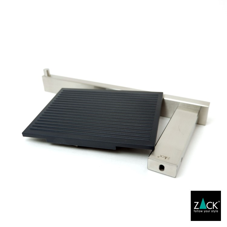 ZACK 40376 LINEA ドイツZACK社製モダンデザインのトイレットロールホルダー(トレイ付き) 壁付けタイプ DIY [在庫有り]