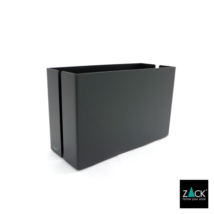 ZACK 40535 POTES ドイツZACK社製モダンデザインのユーテンシルボックスL マットブラック [在庫有り]