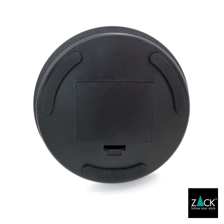 ZACK 40142 ALONA  ドイツZACK社製モダンデザインのLED メイクアップミラー(X5倍) マットブラック仕上げ [在庫有り]
