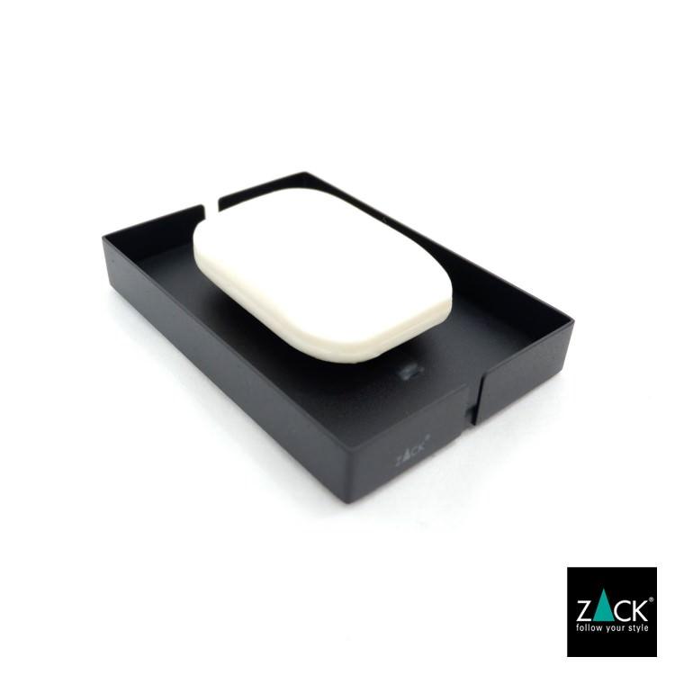 ZACK 40537 POTES ドイツZACK社製モダンデザインのソープディッシュ マットブラック [在庫有り]