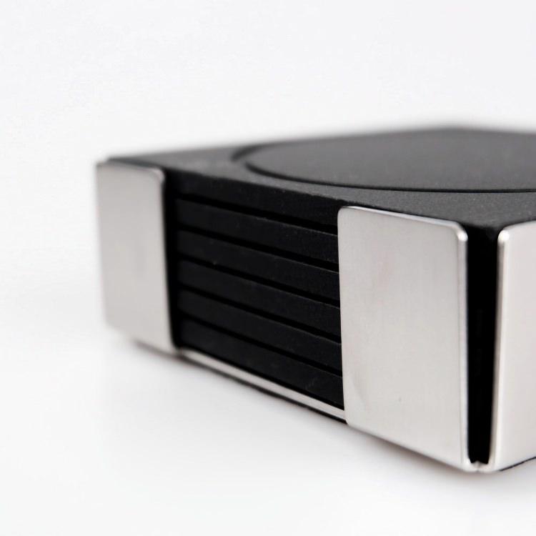 [廃番] ZACK 20359 PLAZA ドイツZACK社製モダンデザインのコースターとスタンドのセット