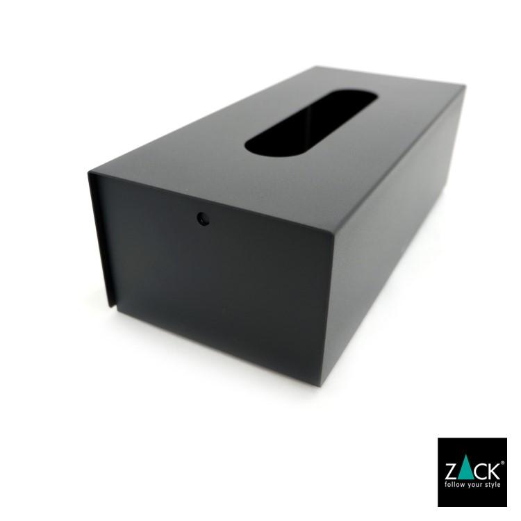 ZACK 40541 PURO ドイツZACK社製モダンデザインのティッシュボックス マットブラック [在庫有り]