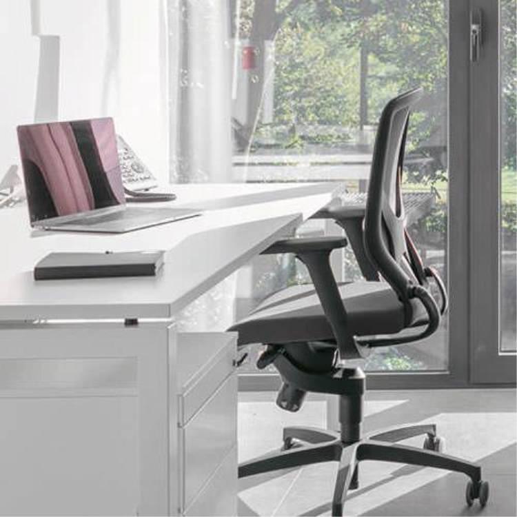 Wilkhahn ウィルクハーン|IN アームチェア ブラック 184/7 3Dレフト ハードキャスター オフィスチェア タスクチェア パソコンチェア