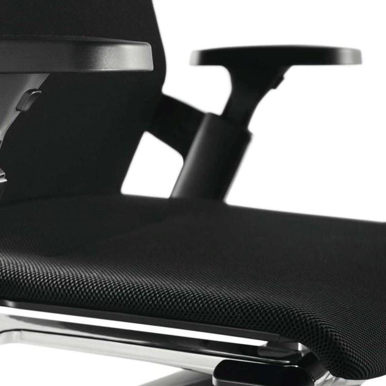 Wilkhahn ウィルクハーン|ON ハイバックアームチェア ブラック 175/7 3Dメッシュ ハードキャスター オフィスチェア タスクチェア パソコンチェア