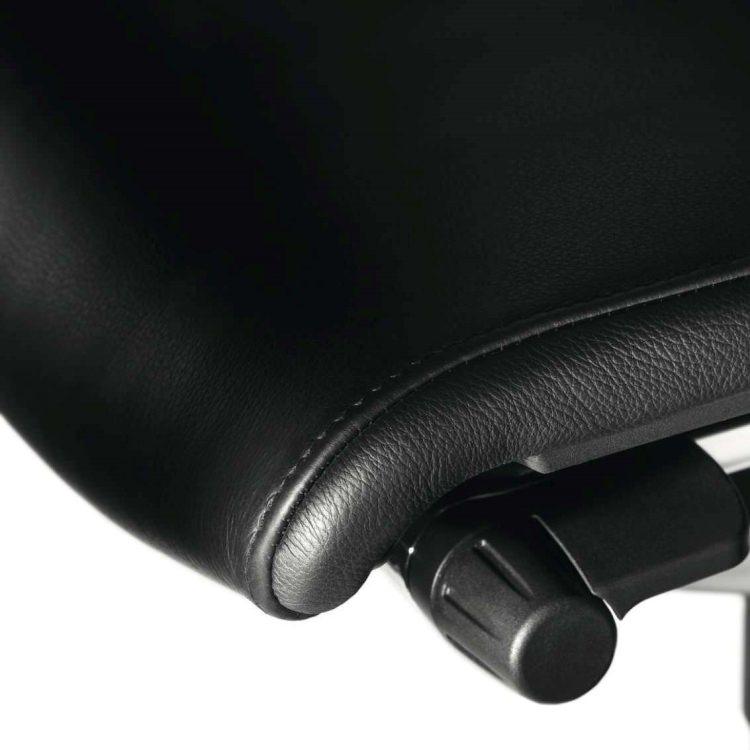 Wilkhahn ウィルクハーン|ON ハイバックアームチェア ヘッドレスト付き ブラックレザー 175/71H ハードキャスター オフィスチェア タスクチェア パソコンチェア