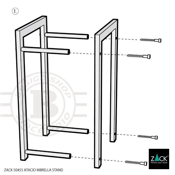 ZACK 50455 ATACIO ドイツZACK社製モダンデザインのアンブレラスタンド(傘立て) [在庫有り]