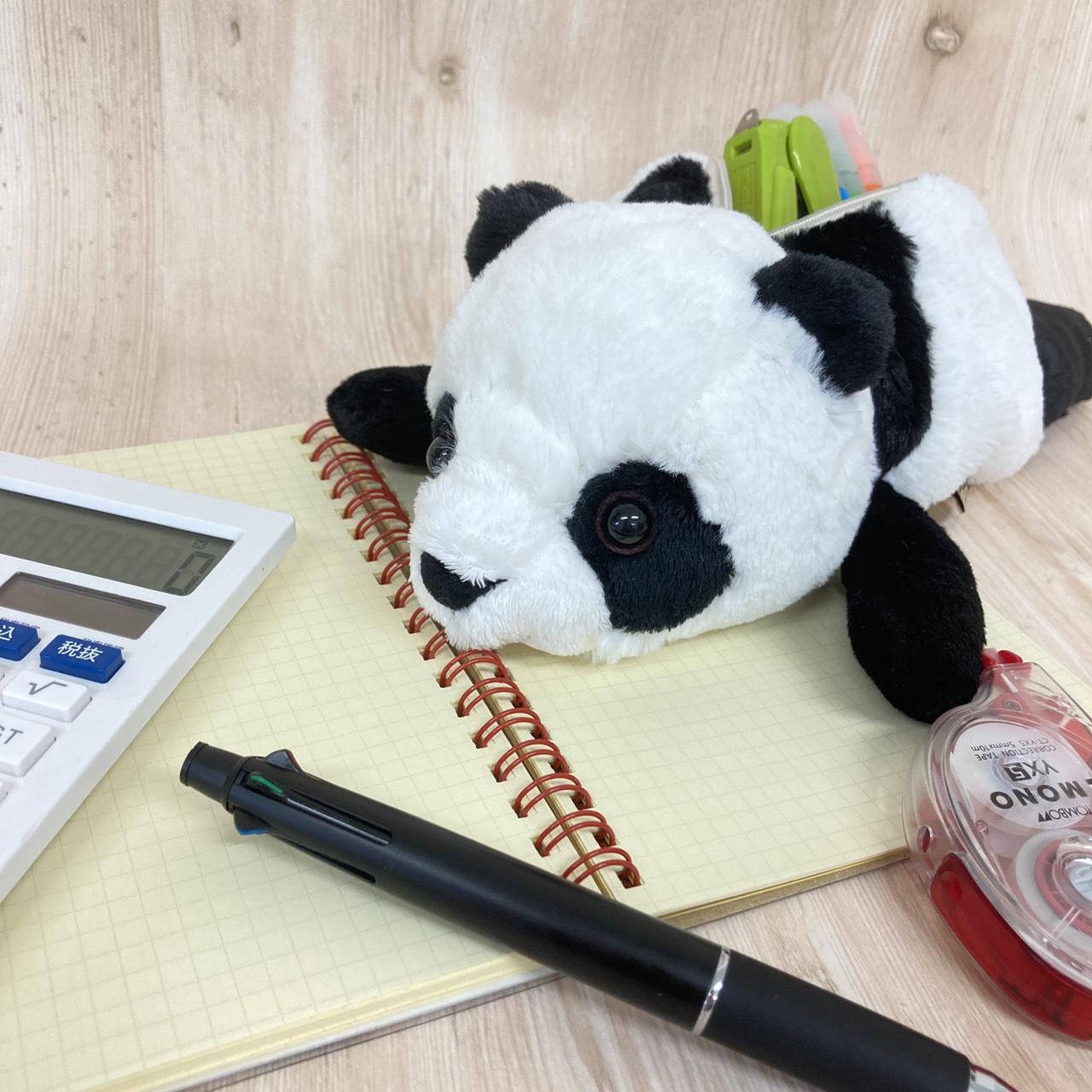 【5月中旬頃再入荷予定】ワイルドアニマル ペンケース パンダ 2個 / ロット