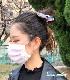 人間用♪ レーシーフリル布マスク