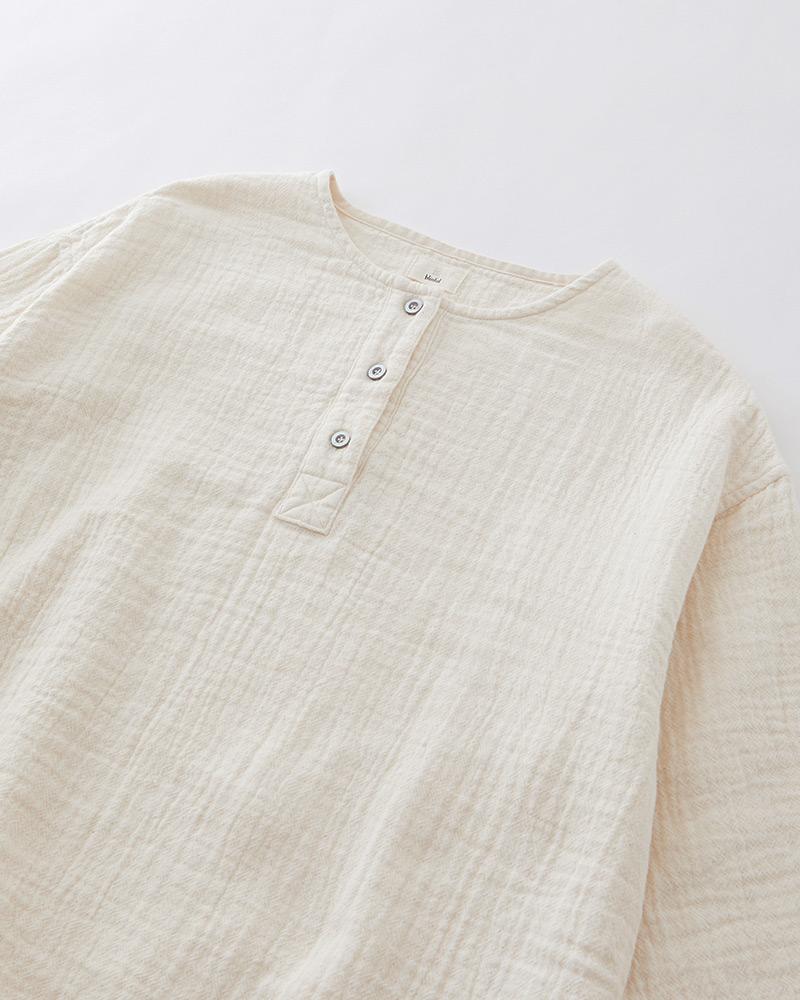 大人の産衣 ダブルガーゼ パジャマ ワンピース レディース 長袖(9分袖)  日本製 blissful/ブリスフル