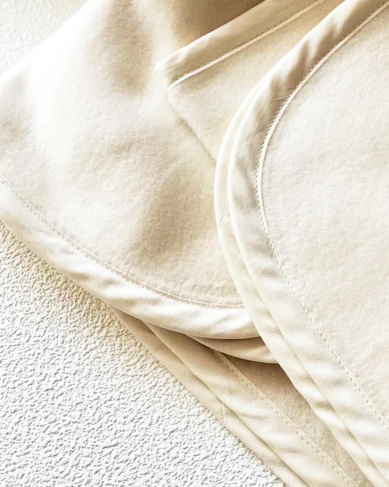オーガニックコットン 春夏もおすすめ なめらか 綿毛布 ハーフサイズ ブランケット ベビー用毛布 ひざ掛け ギフト 日本製  blissful/ブリスフル