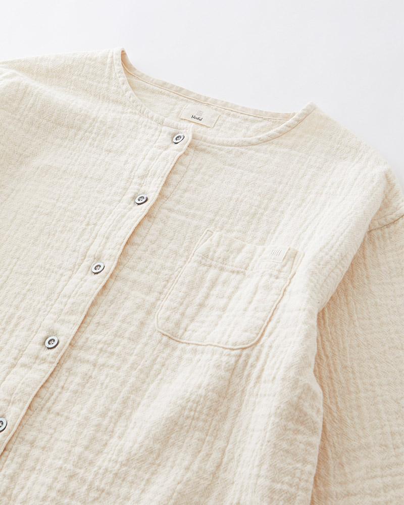 大人の産衣 ダブルガーゼ パジャマ レディース 長袖(9分袖) 日本製 あったか blisful/ブリスフル