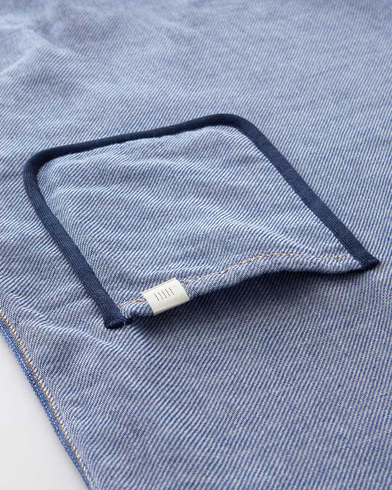 今治タオル使用 バスローブ ワンピース ライトブルー ギフト 日本製 blissful/ブリスフル