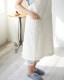 肩のこらないエプロン バッククロス  綿麻 スラブダンガリー 父の日 プレゼント メンズにもおすすめ 男女兼用 キナリ 日本製 blissful/ブリスフル