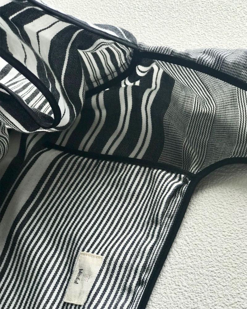 【春の早割20%OFF】洗えるマイバッグ パッカブルトート エコバッグ マルチボーダー モノトーン 日本製 blissful/ブリスフル