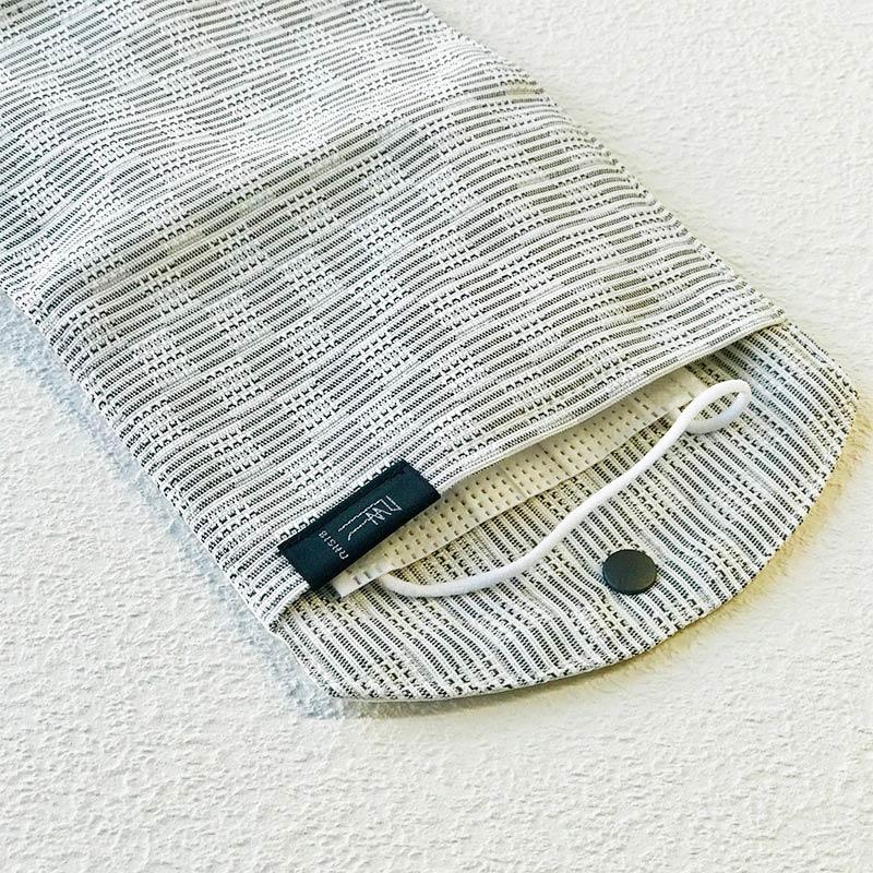 尾州織 抗菌マスクケース 銀イオン Mサイズ 日本製 blissful/ブリスフル