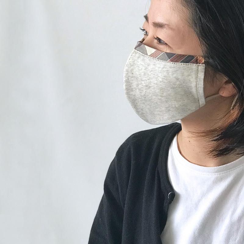 オーガニックコットンマスク  シートポケット付き 布製マスク 男女兼用  日本製  blissful/ブリスフル